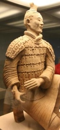 Terracotta Bowman, at the Mausoleum of the First Qin Emperor, near Xi'an, China. Photograph by William Sima, August 2008.